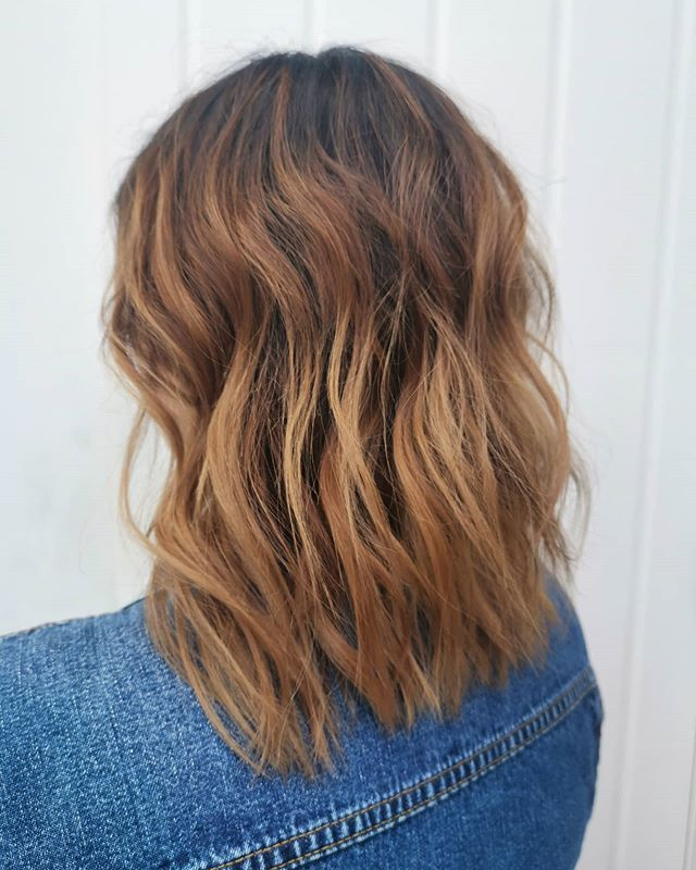 Brown, Honey, Brown Ombre with Straight Ends