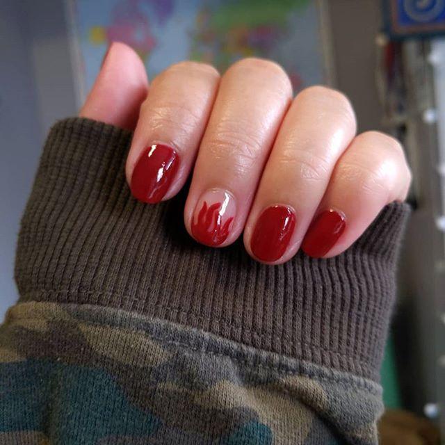 Hot Tamale Red Manicure