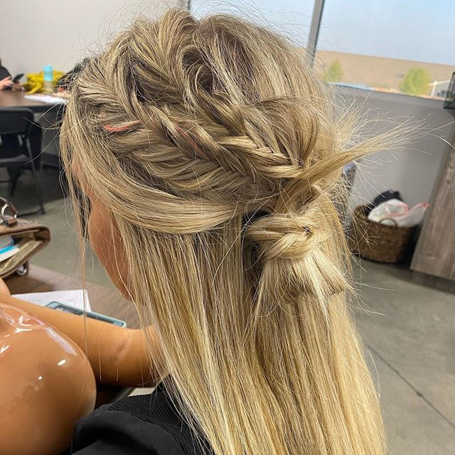 Loose Strands And Boho Fish Braids