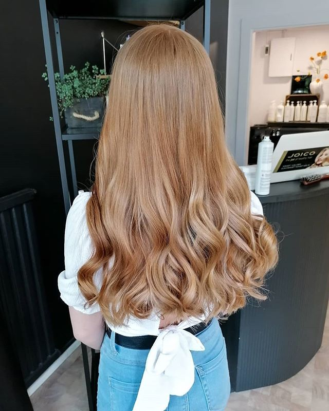 Long and Blonde with Wavy Ends
