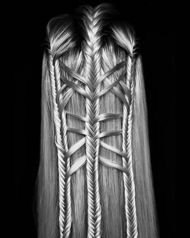 Unique Fishtail Braid Hair Weaving