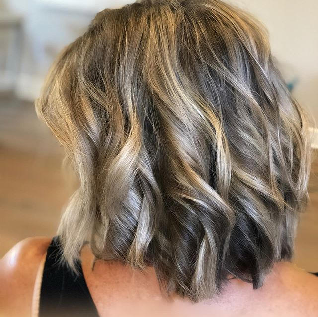 Layered Blonde Bob with Gold Balayage