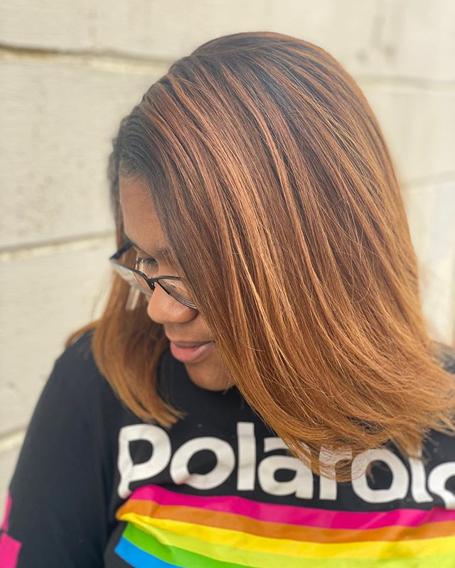 Straight and Chic Honey Brown Ombre