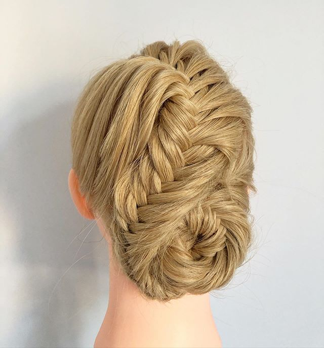 Side To Side Loose Fishtail Bun
