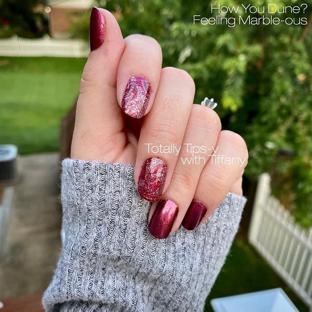 Shiny Red with Sweet Glitter Accents