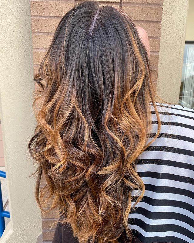 Honey Blonde Ombre with Beachy Waves