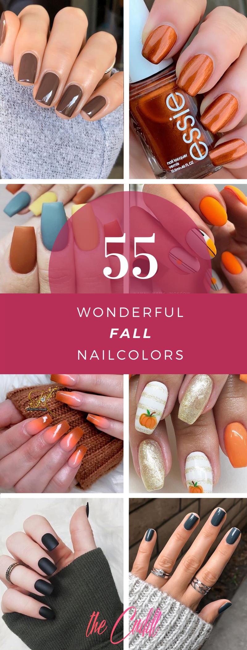 Top 50 Most Popular Fall Nail Designs