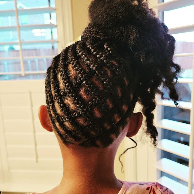 Elaborate Patterned Updo with Curls