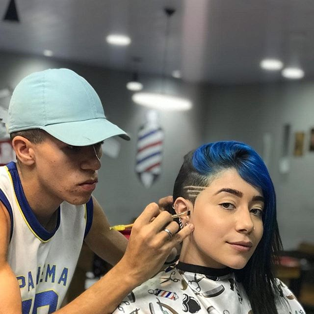 The Best Undercut For Women is Blue and Straight to the Point