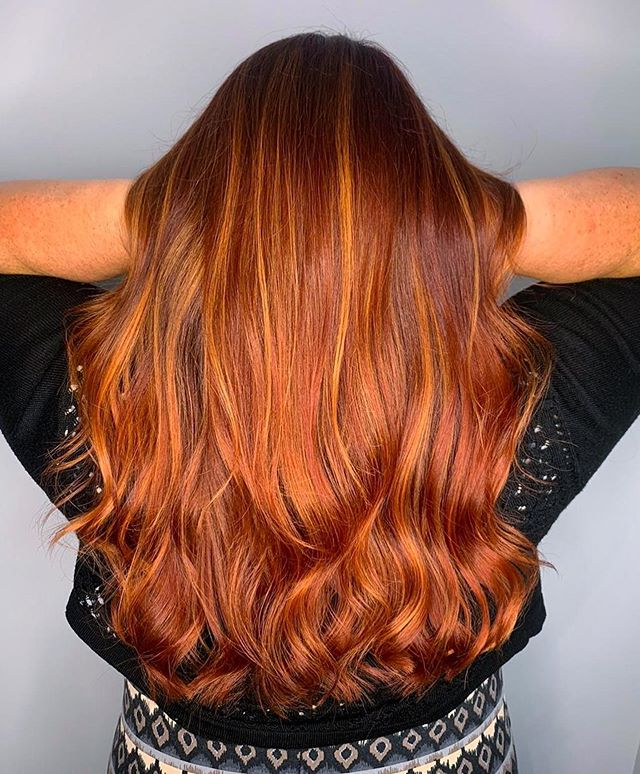 Warm Red Locks with Strawberry-Blonde Highlights