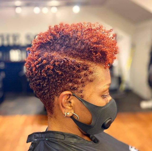 Short Natural Faux Hawk with Fiery Tips