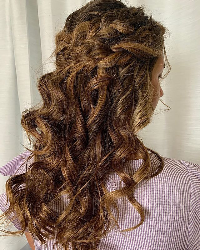 Voluminous, Curled, Boho Double Braid