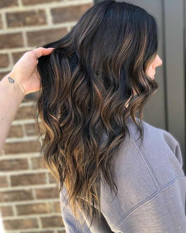 Classically Light Highlights on Dark Hair