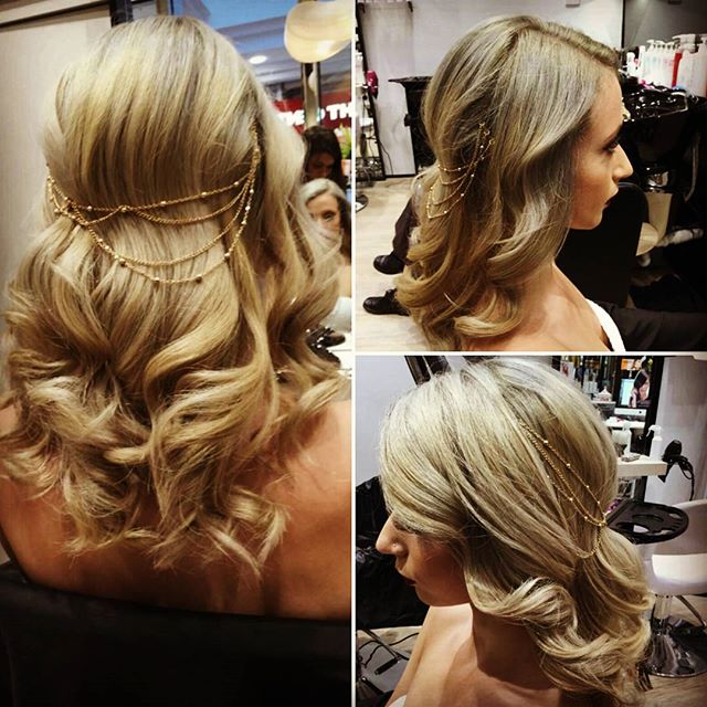 Downdo Wedding Waves with Dainty Hair Accessories