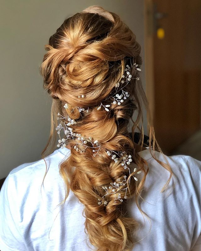 A Flowery Rapunzel Twist for Playful Brides