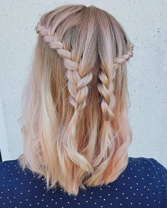 Sweetheart Braids for Shoulder-Length Lobs