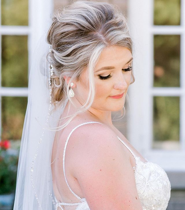 Center Stage Veil on a Loose, Low Bun