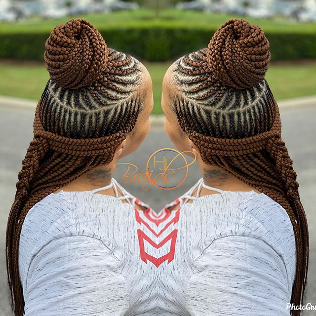 Half-up, Half-down Honey Braids