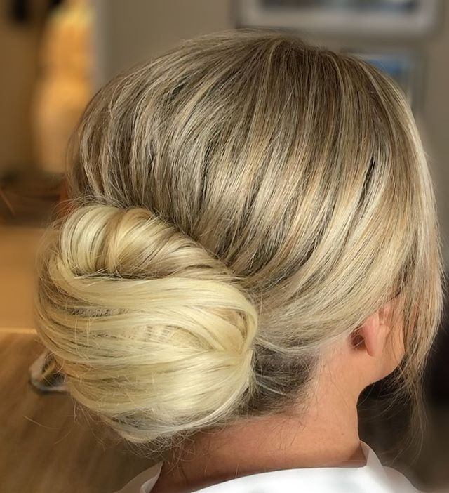 Soft and Romantic Swirl Bridal Bun