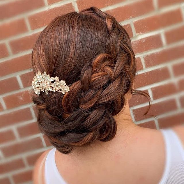 Bridal Braided Wrap-Around 'Do