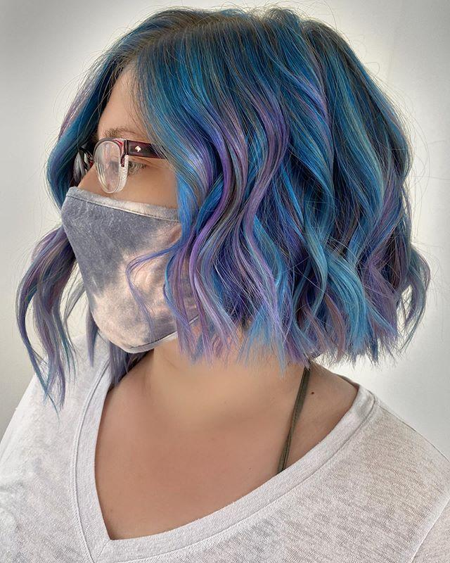 Asymmetrical Mermaid Hair with Waves