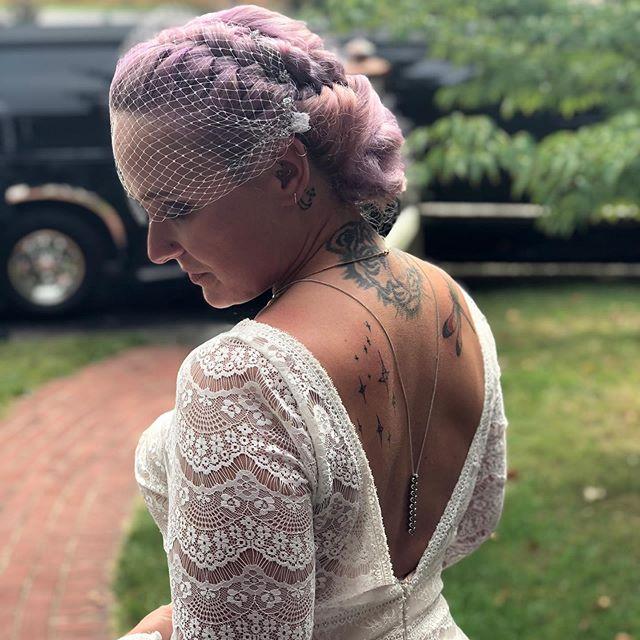 Purple Milkmaid for Wedding