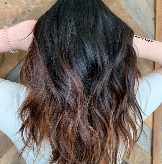 Rich Chocolate Highlights on Dark Hair