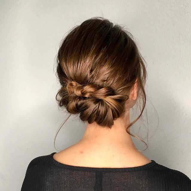 A Very French Chignon-Braided Low 'Do
