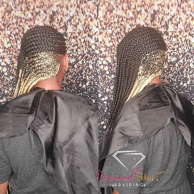 Blonde And Black Side Braids