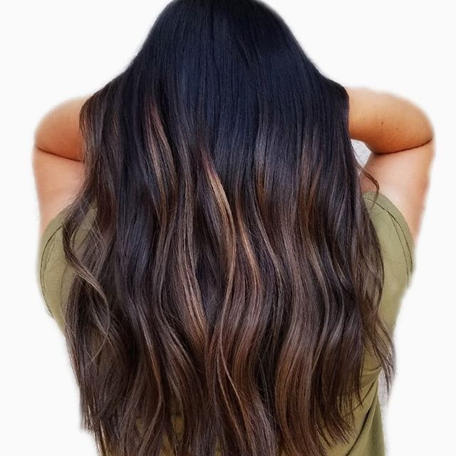 Ooh-lala! Beautiful Brown Highlights On Dark Hair