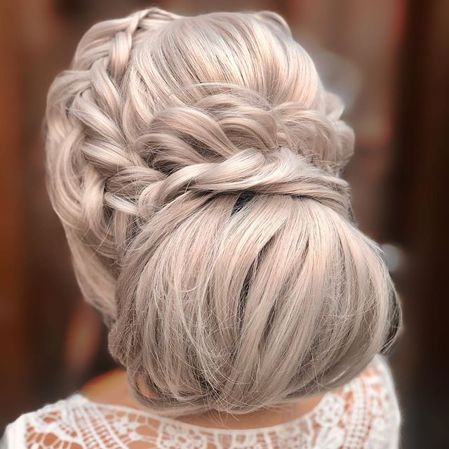 Braided Updo with Oversized Bun