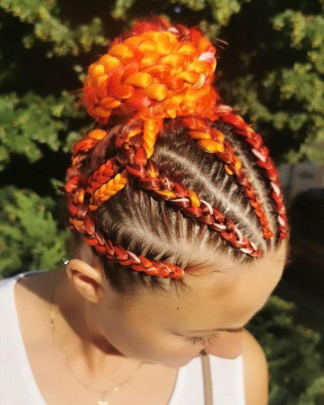 Girl on Fire Woven Braid Bun