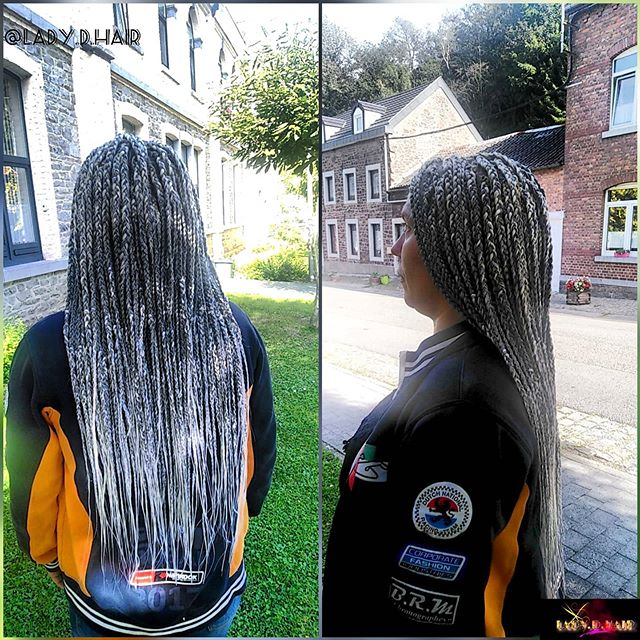 Blonde And Black Mixed Box Braids