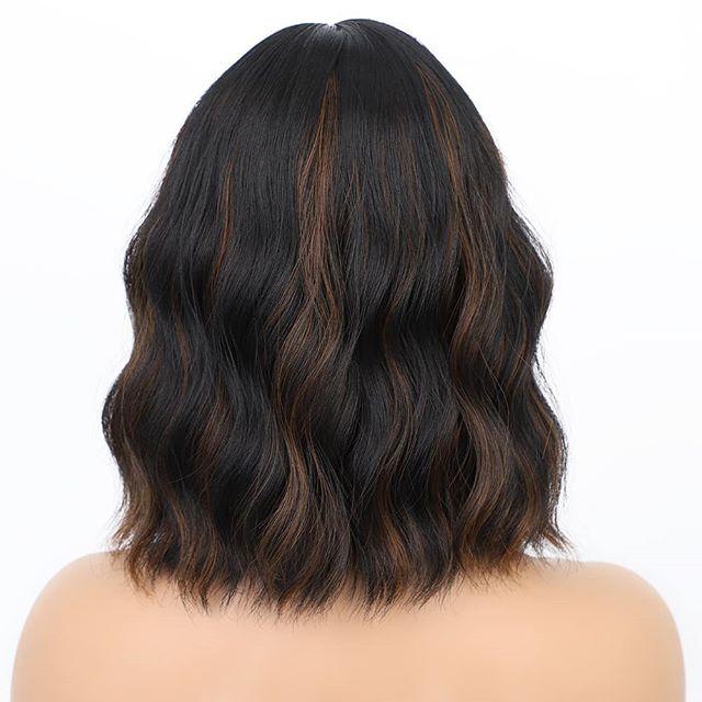 Short Wavy Haircut with Brown Balayage