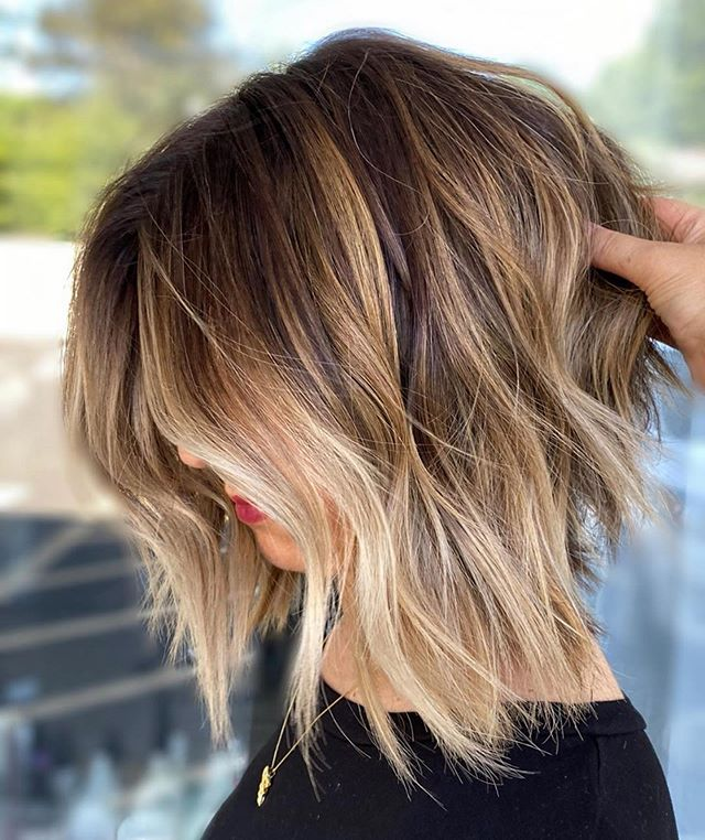 Dramatically Angled Cut and Color