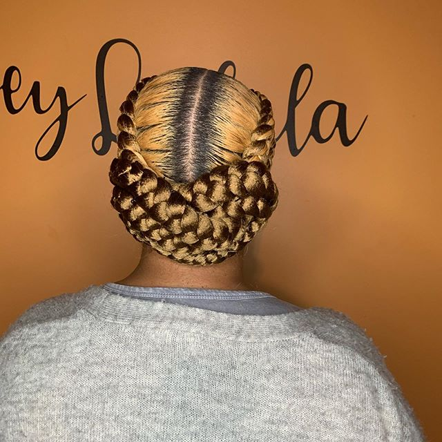 Blonde Tight Braids and Black Roots