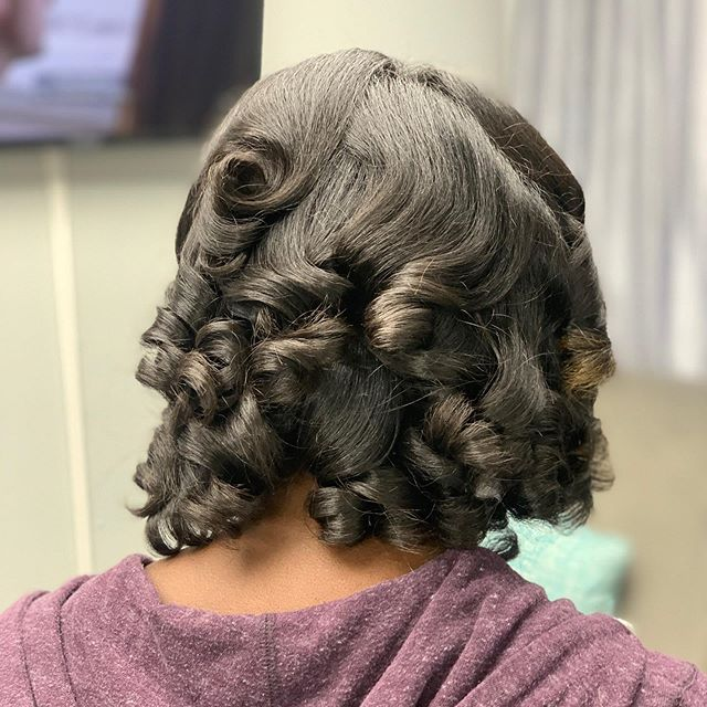Short Black Hair With Defined Curls