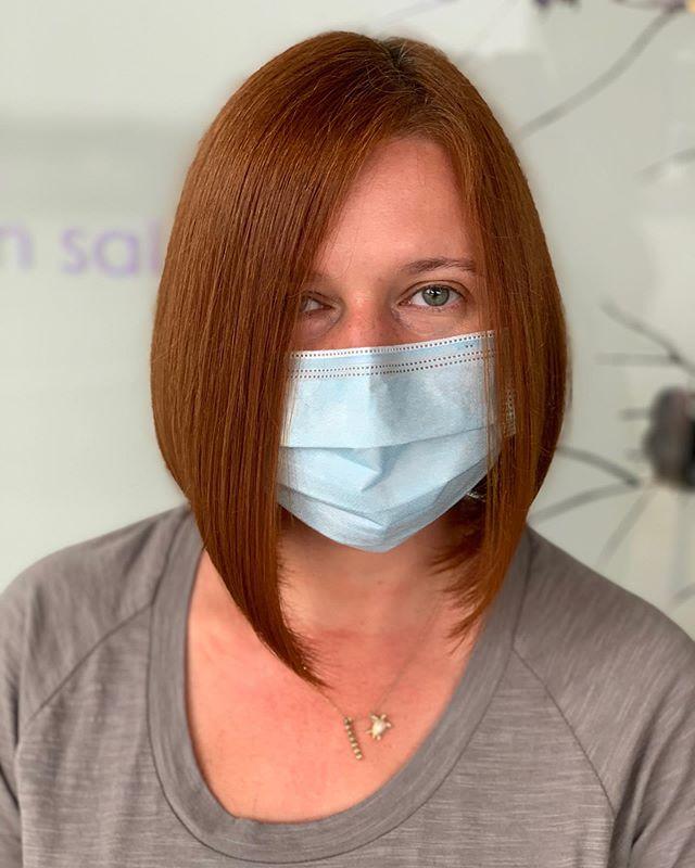 Rich Copper Asymmetrical Hair Idea