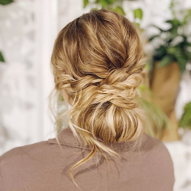 Chic Tussled and Braided Updo