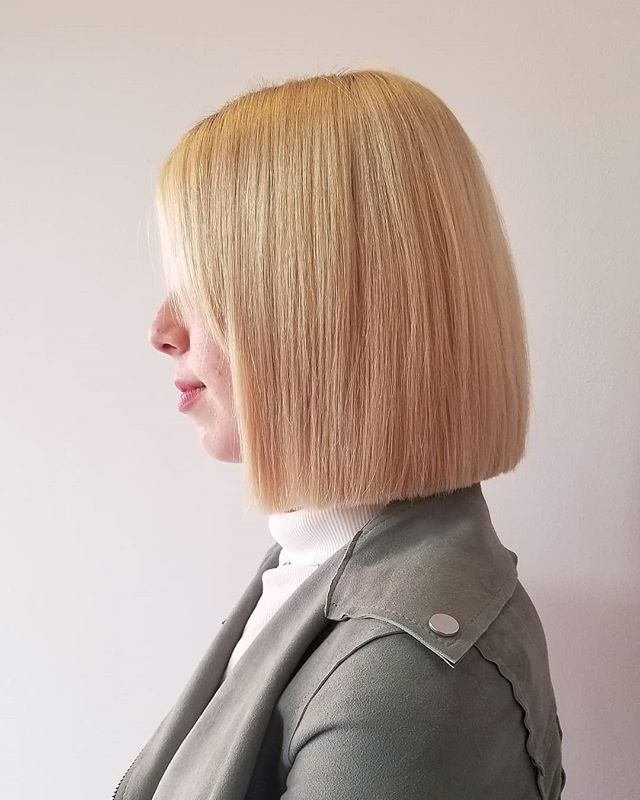 Simple, Elegant and Straight Blunt Bob Hairstyle for the Hardcore Professional