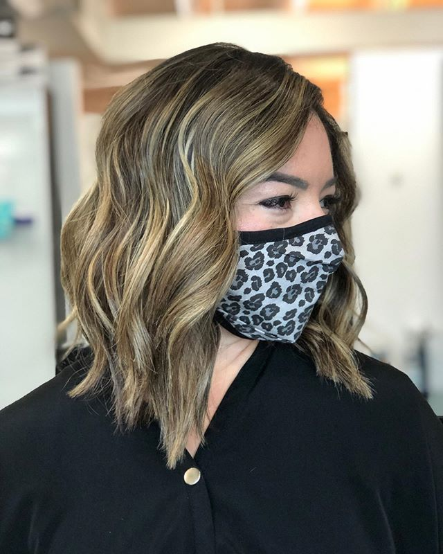 Short Wavy Hair with Lots of Blonde Highlights