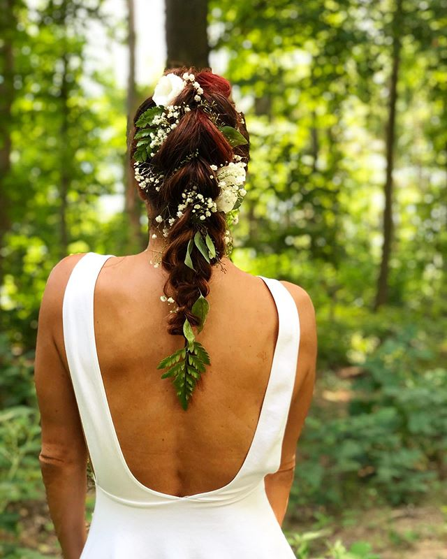 Nature Inspired Braids for an Outdoor Wedding