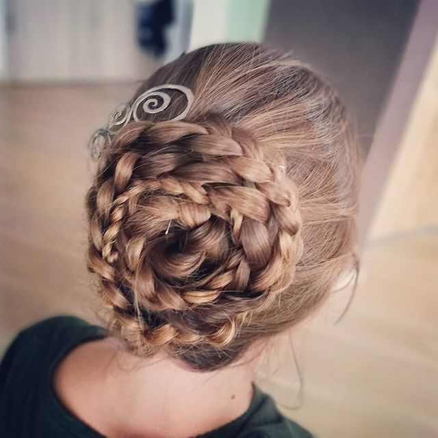 Intricately Braided Updo with Hair Jewelry