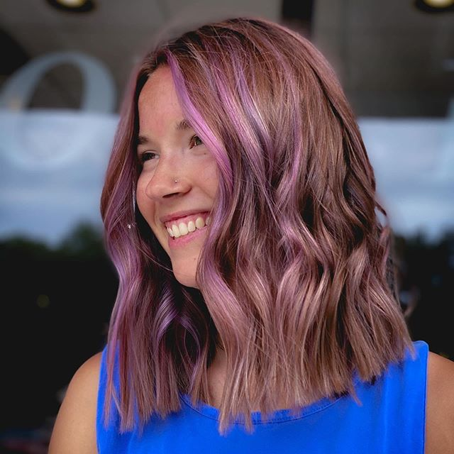 Choppy Tomboy Waves with Lavender Highlights