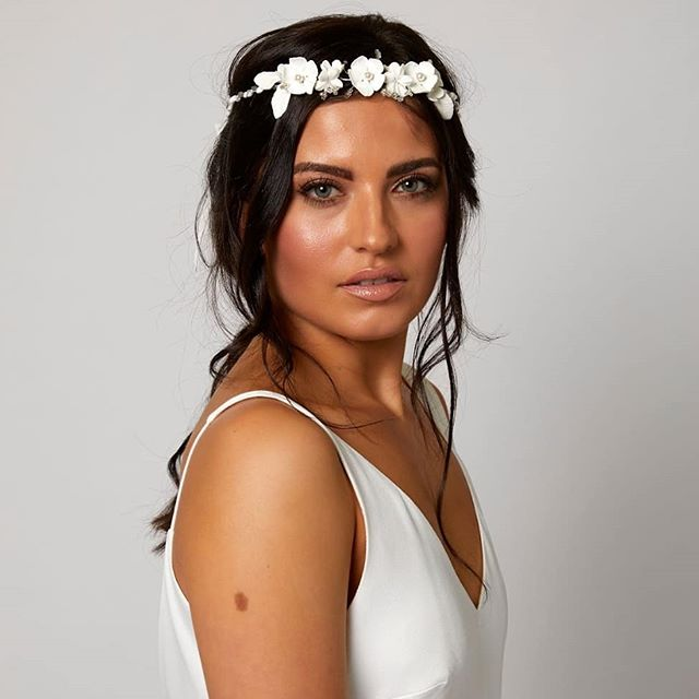 Jeweled Flower Crown for a Bridal Hairstyles Heirloom