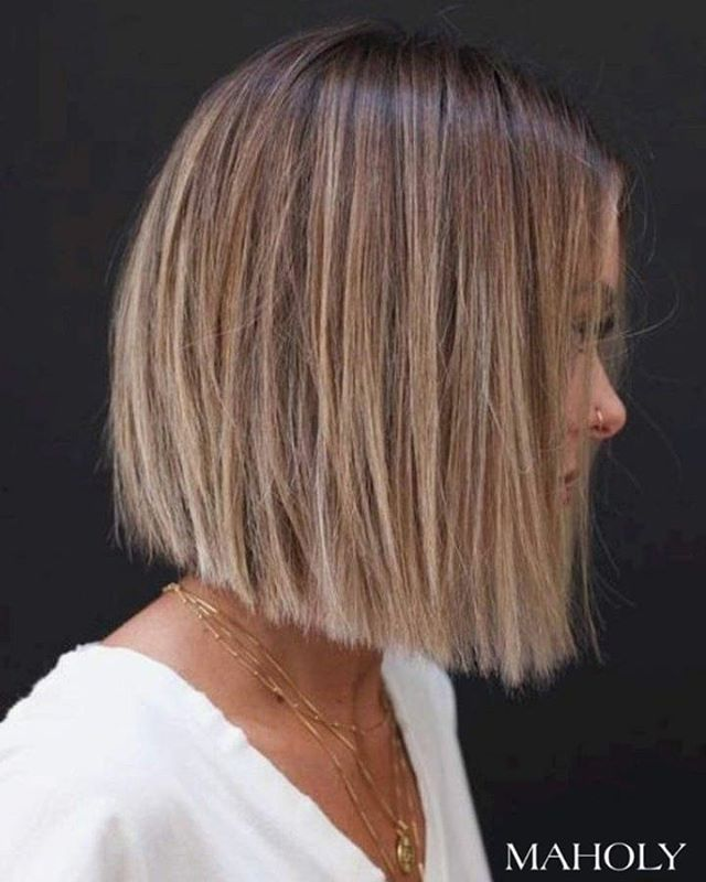 Rough Patch Blunt Cut Bob Hairstyle for Slow Days