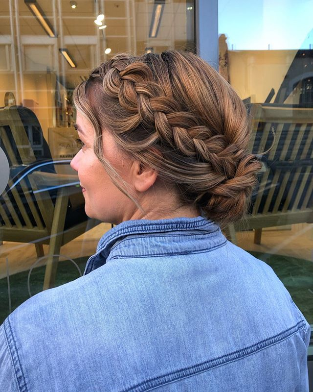Relaxed Updo with Highlights