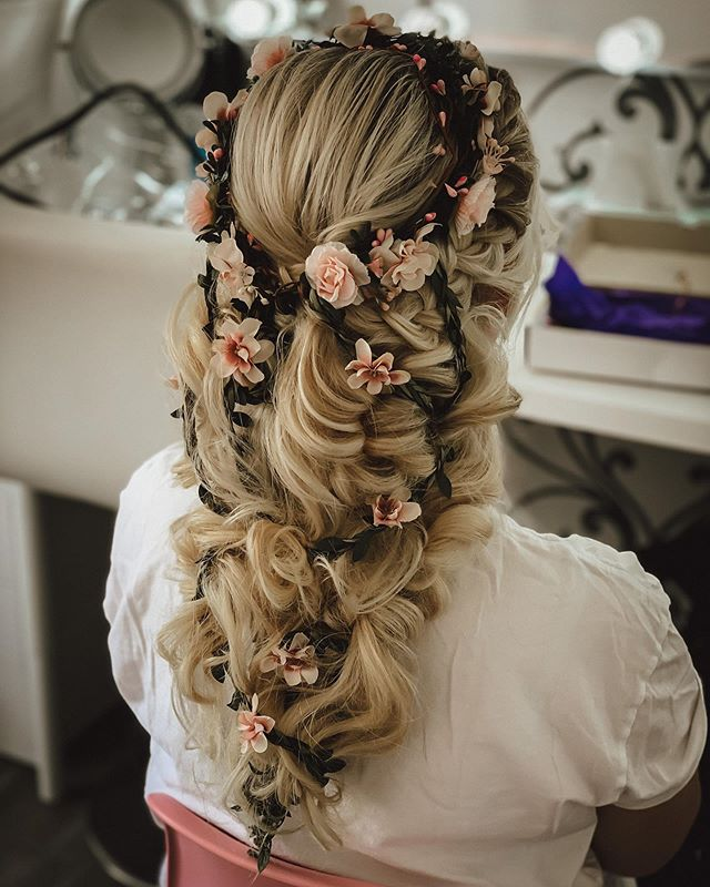 Braided Wrap-Around Crown for Long Haired Brides