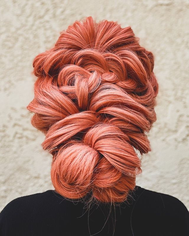 Complex Patterned Updo and Red