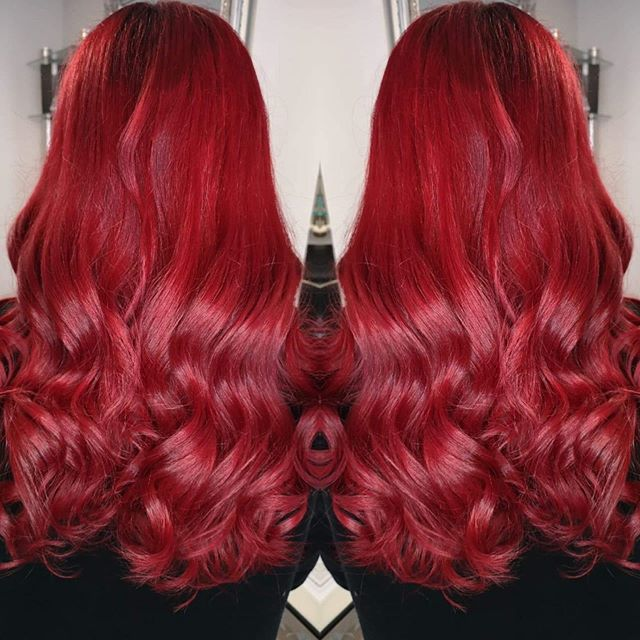 Cool Ruby-Red Hair Color Ideas